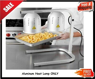 Aluminum Heat Lamp Food Fry Full Pan Warmer 2 Bulb Stand Commercial Dump Station