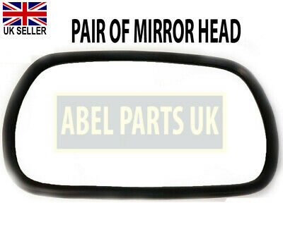 Jcb Parts - 3cx Mirror Head Pair Curved Glass 12304970 334e0829 33163982