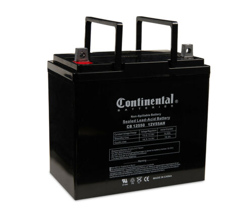 Continental Battery CB12550 NB 12 Volt 55 Amp Hour Battery With NB Terminal