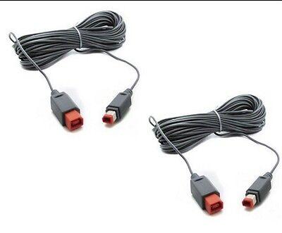 2 X Câble rallonge d'extension pour Nintendo Wii et Wii U sensor...