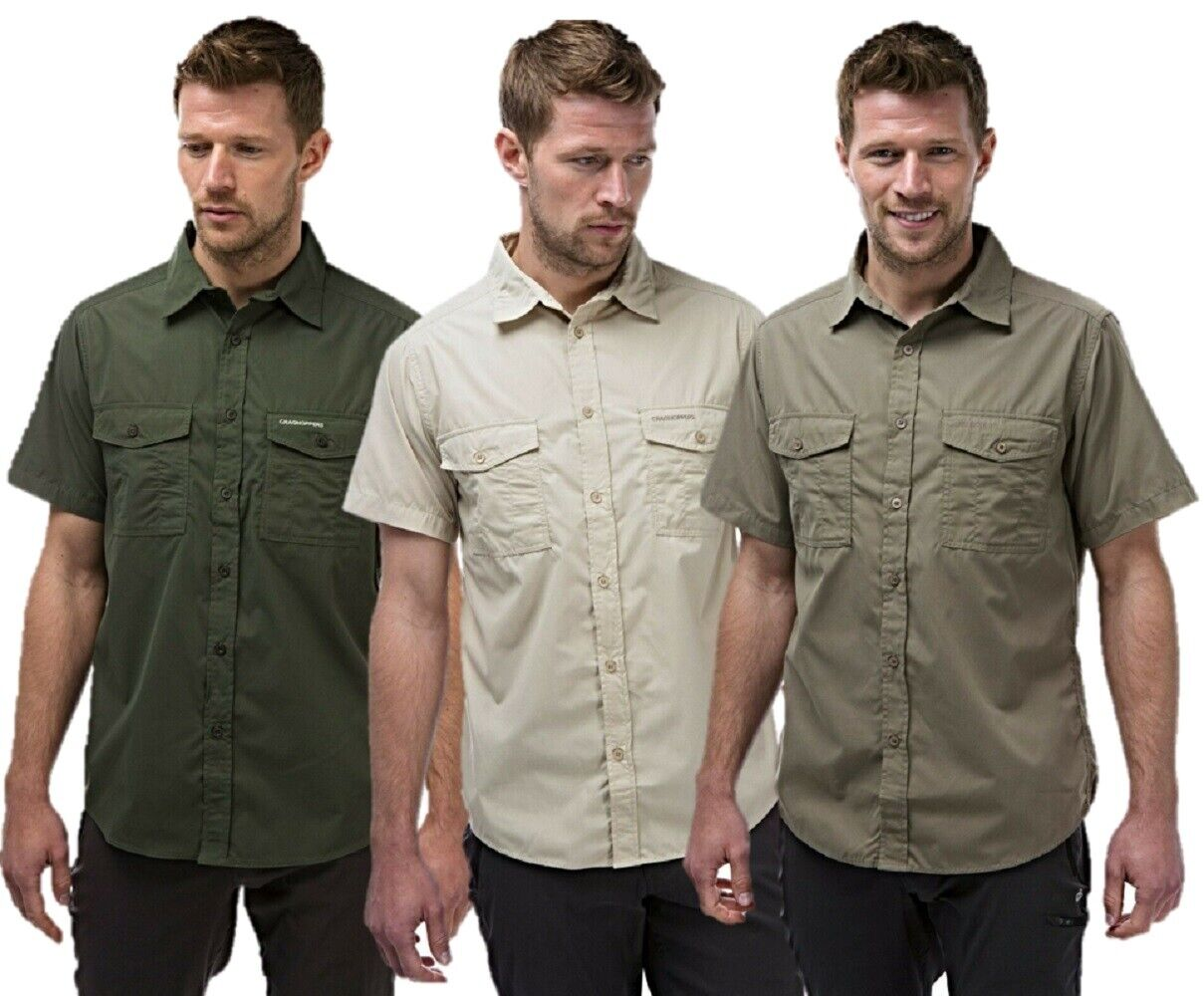 Craghoppers Herren Kiwi Hemd mit Kurzen Ärmeln Reise Wandern Cms339
