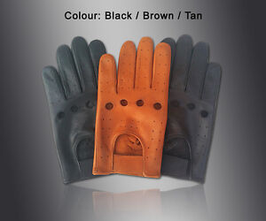 NEW-MENS-DRIVING-GLOVES-TOP-QUALITY-SOFT-GENUINE-REAL-LEATHER-BLACK-BROWN-TAN