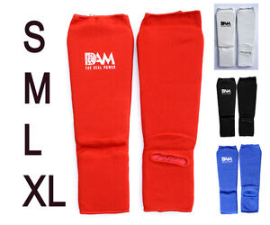 DAM Shin Instep Protectors Guards Pads Boxing MMA Muay Thai, S M L XL NEW
