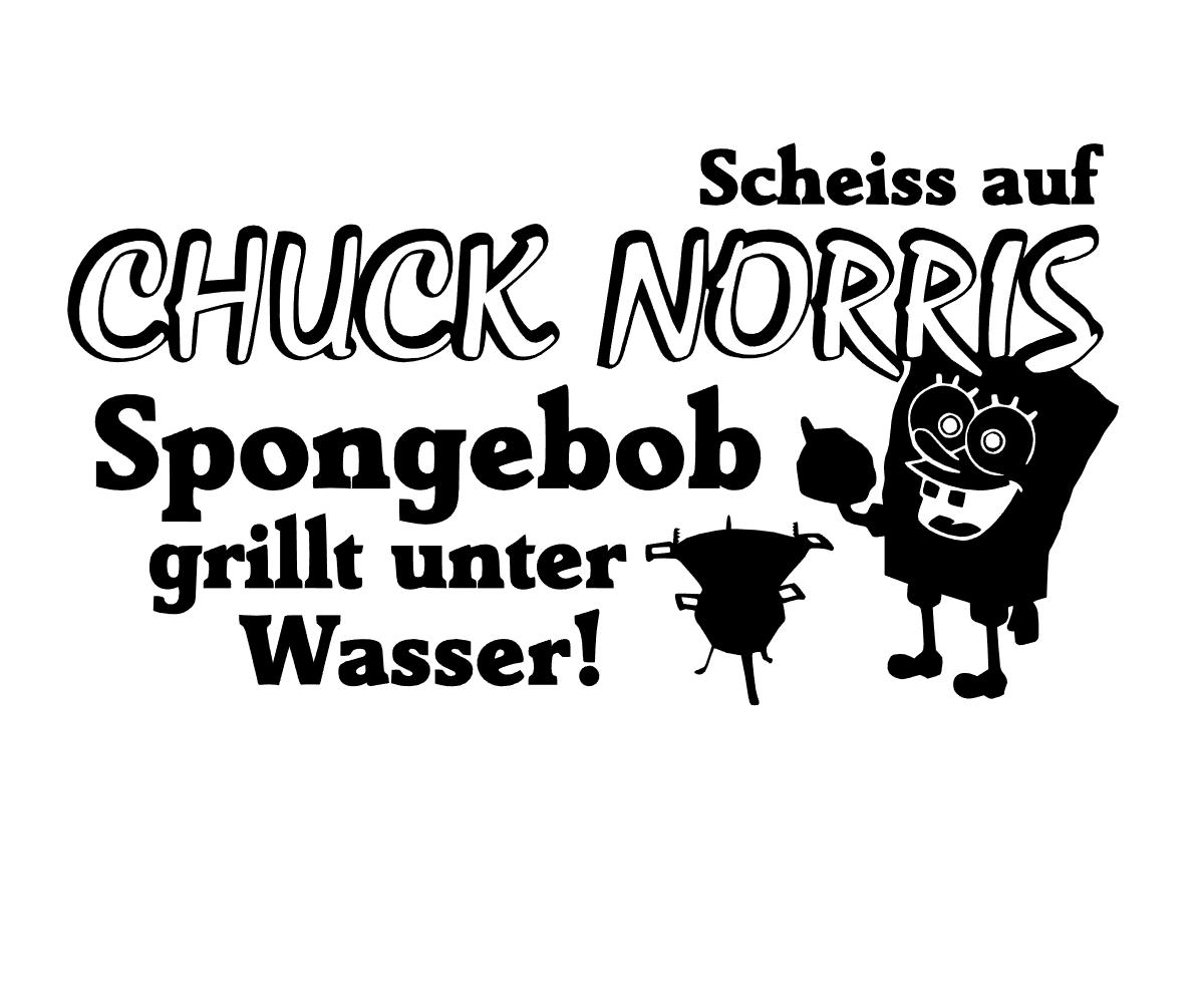 Scheiss auf Chuck Norris, Spongebob grillt unter Wasser Aufkleber decal 24 #8348