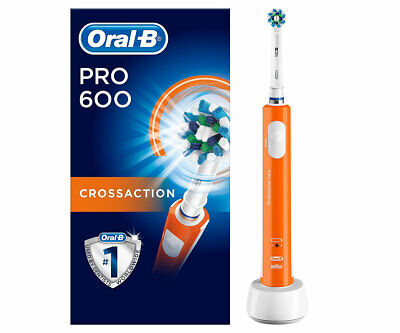 BRAUN ORAL-B PRO 600 Cepillo de Dientes Eléctrico Recargable con Tecnología 3D