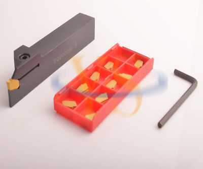 20mm Parting Off Turning Toolholder ZQ2020R + 10 3MM Carbide Inserts Lathe Tools