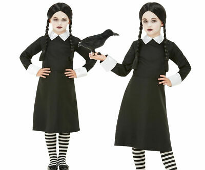 Wednesday Kostüm Kinder Gruselig Schulmädchen Addams Halloween Kostüm - Wednesday Addams Kostüm Kinder