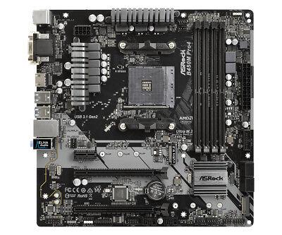 Asrock B450M PRO4 AMD B450 AM4 Micro ATX DDR4-SDRAM Motherboard