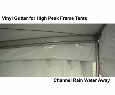 Frame Tent Rain Gutters 10' Vinyl Water Channel Protect Wedd