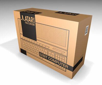 Caja vacia Atari Falcon 030 marrón | Empty box Atari Falcon 030...