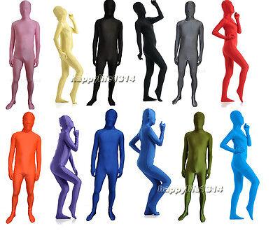 Unisex Adult Full body Lycra Spandex Zentai costume Skin Bodysuit Catsuit - Body Costumes