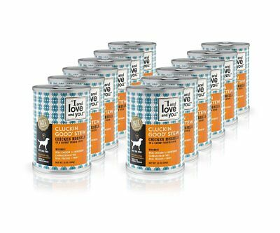 "I and love and you"" Cluckin' Good Stew Grain Free Canned Dog Food, 13 oz"