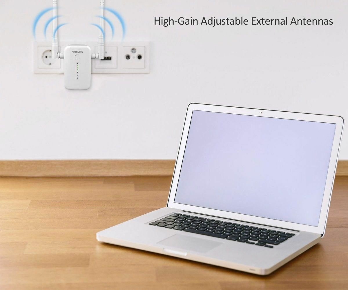 Dual Band AC 1200Mbps WiFi Repeater AP Wireless Range Extender Booster Network Boosters, Extenders & Antennas