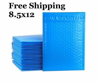 1-300 2 8.5x12 Blue Color Poly Bubble Mailers Fast Shipping