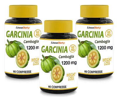 Garcinia Cambogia 1200mg/die (180 compresse) trattamento X 3MESI Line@ 60% HCA