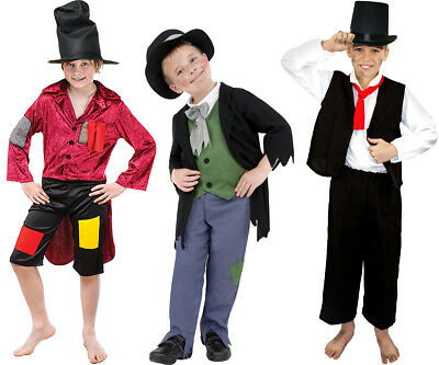 BOYS POOR VICTORIAN COSTUME ARTFUL DODGER KIDS HISTORICAL BOOK DAY FANCY (Artful Dodger Fancy Dress Kostüm)