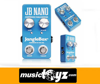 JangleBox Nano Compressor Treble Booster Guitar Pedal - Auth Dealer/FREE Gift !