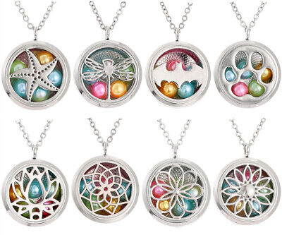 Pearl Cage Locket Pendant Necklace Living Memory Floating Charm Necklace Jewelry](Floating Charm Locket Necklace)
