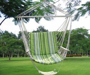 Green Leisure Swing Hammock Hanging Outdoor Chair Garden Patio Yard 260Lbs  Max