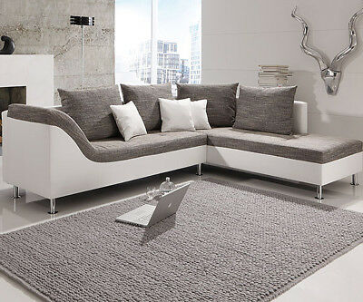wohnlandschaft couch sofa ecksofa eckgarnitur garnitur u form leder polster pisa. Black Bedroom Furniture Sets. Home Design Ideas