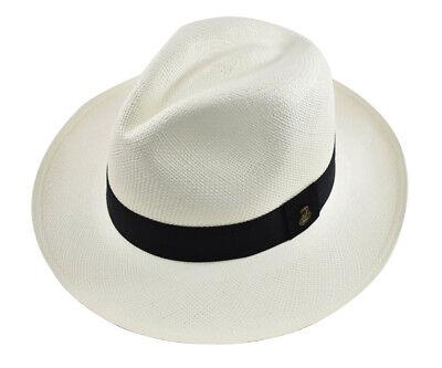 - Genuine Panama Hat Paja Toquilla Hand-woven in Ecuador White Classic Fedora