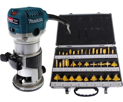 Makita RT0701C 1-1/4 HP Compact Router REFURBISHED + 35 Piec