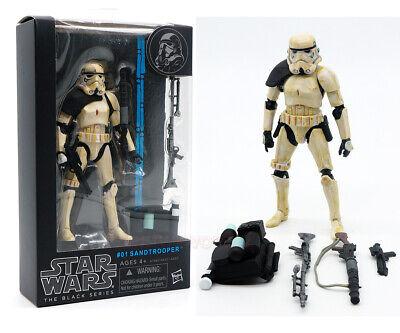 """Star Wars Black Series Black Shoulder Sandtrooper 6"""" Action Figure Model Gift"""