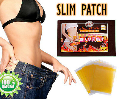 50X Slim Patches Slimming Fast Loss Weight Burn Fat Feet Detox Trim Pads DIET