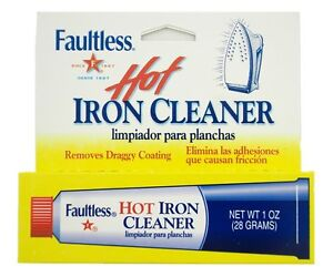 Genuine FAULTLESS Hot Iron Soleplate CLEANER & BURN REMOVER