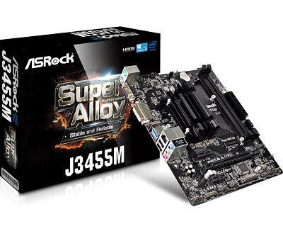 Asrock Intel Celeron J3455 Micro ATX Motherboard ()
