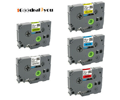 New 5pk Tze-231 431 531 631 731 Compatible With Brother P-touch Label Tape 0.47