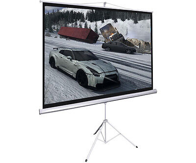New Portable 100 Projector 169 Projection Screen Tripod Pull-up Matte White
