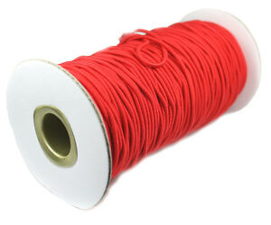5 Yards - Colored 2mm Round Elastic Cord - Choice of colors