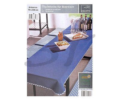 Bier Tischdecke für Biertisch Bierzeltgarnitur Tischtuch Baumwolle blau 70 x 240