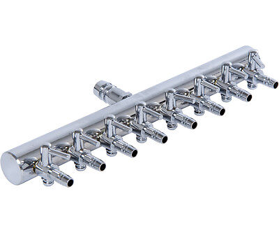 8 Outlet Air Manifold (Active Aqua 8 Outlet Metal Air Manifold Adjustable Divider SAVE W/ BAY HYDRO)
