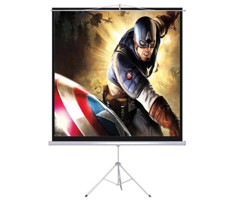 New 100 Tripod Portable Projection Screen Square 70x70 Projector Stand