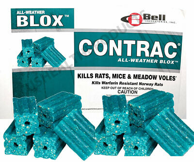 CONTRAC BLOX Professional Mouse Rat Poison ALL WEATHER trap Rodenticide -