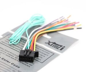 pioneer car stereo wiring harness color code xtenzi-16-pin-radio-wire-harness-for-pioneer-fh-x720bt-fh ... pioneer car stereo wiring harness x500ui fh