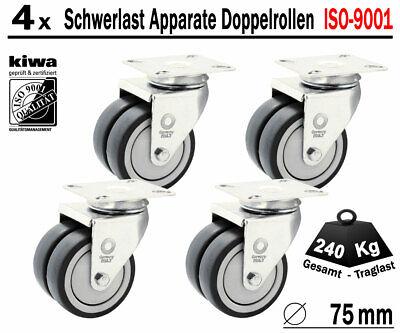 1 x Doppelrolle Lenkrolle 50 mm Schwerlast Rolle ISO 9001 Germany Kugellager