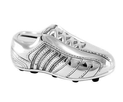 Hucha Botas de Fútbol Caja Dinero Plata Zapato Zapatillas Deporte Grabado