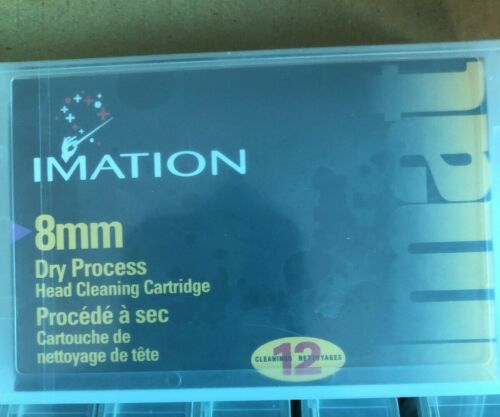 IMATION 8MM VIDEO8 HI8 D8 DIGITAL8 DATA8 HEAD CLEANING CLEANER CLEAN TAPE NEW