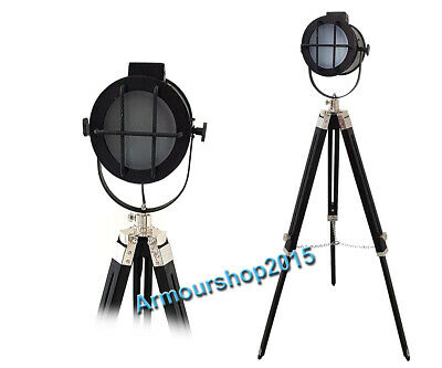 Vintage Style  Authentic Searchlight LED Tripod Floor Lamp Spotlight