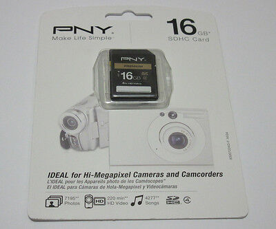 PNY 16g Sdhc Sd Card For Canon Powershot A2500 Elph 115 3...