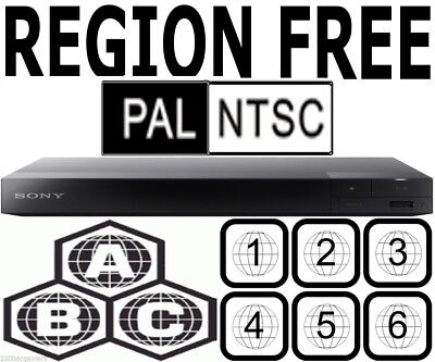 Sony Region Code Free Blu Ray DVD Player Plays Worldwide DVD