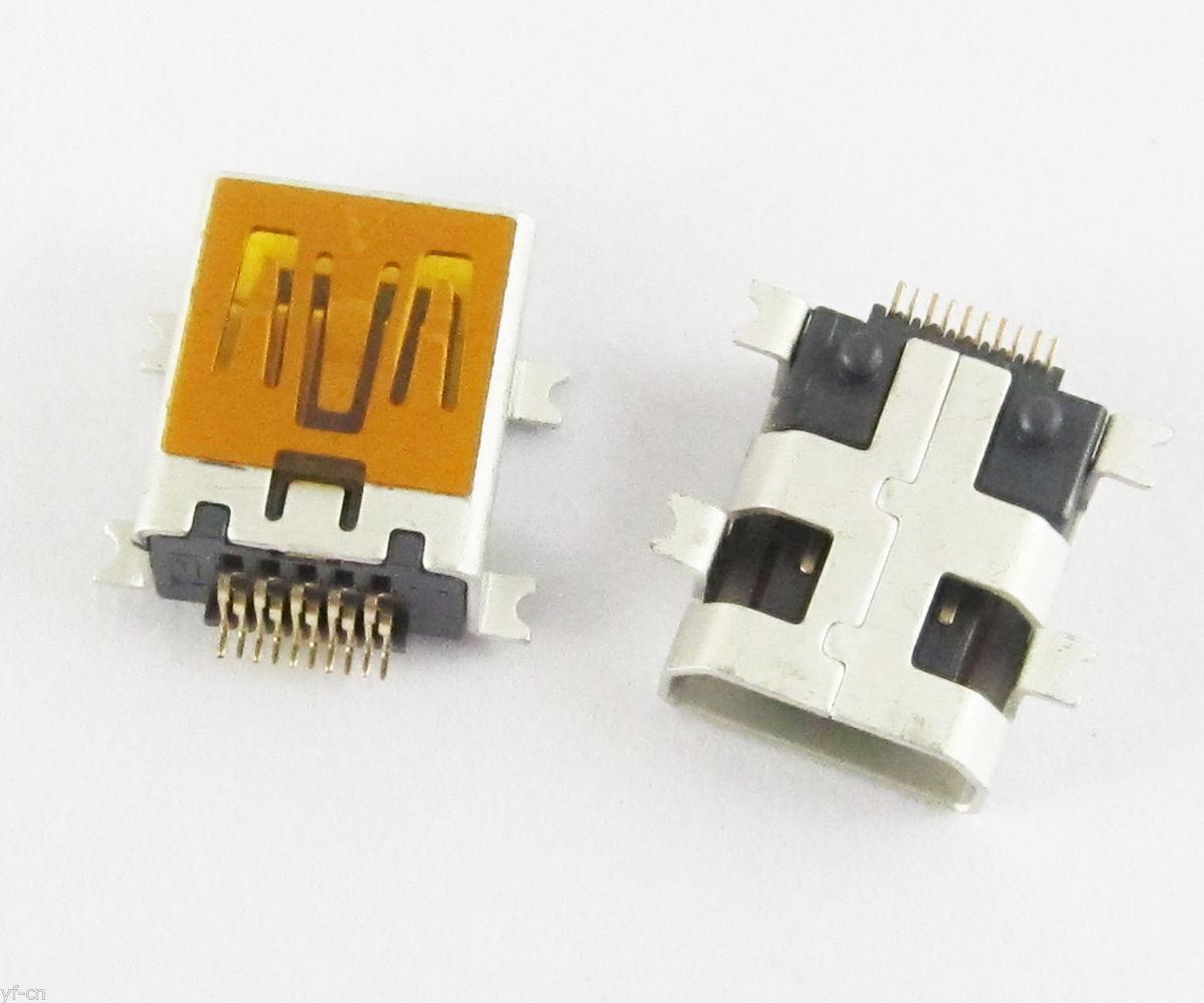 100pcs B Type Mini 10 Pin Usb Female Jack Smt Pcb Board Mount Socket Circuit Connector