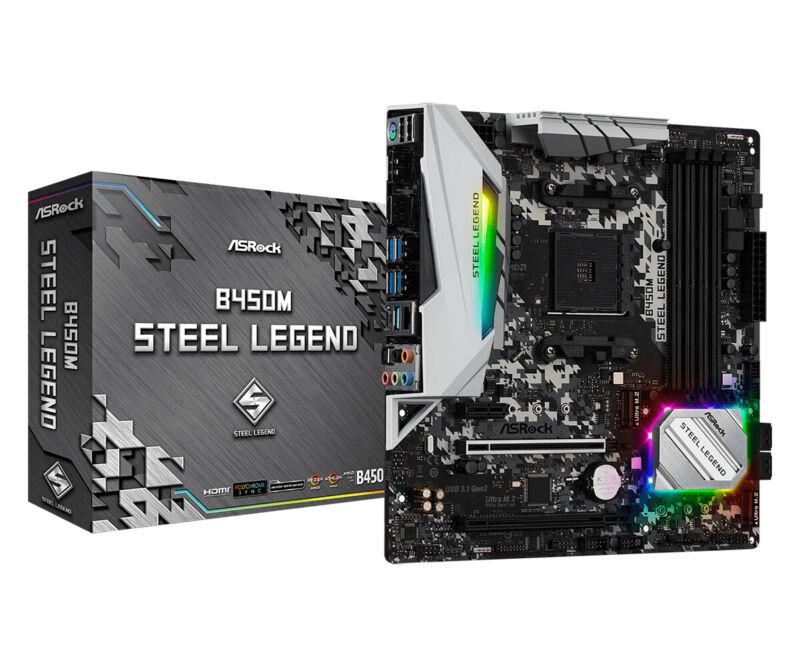 Asrock Steel Legend AM4 AMD B450M Micro ATX DDR4-SDRAM Motherboard