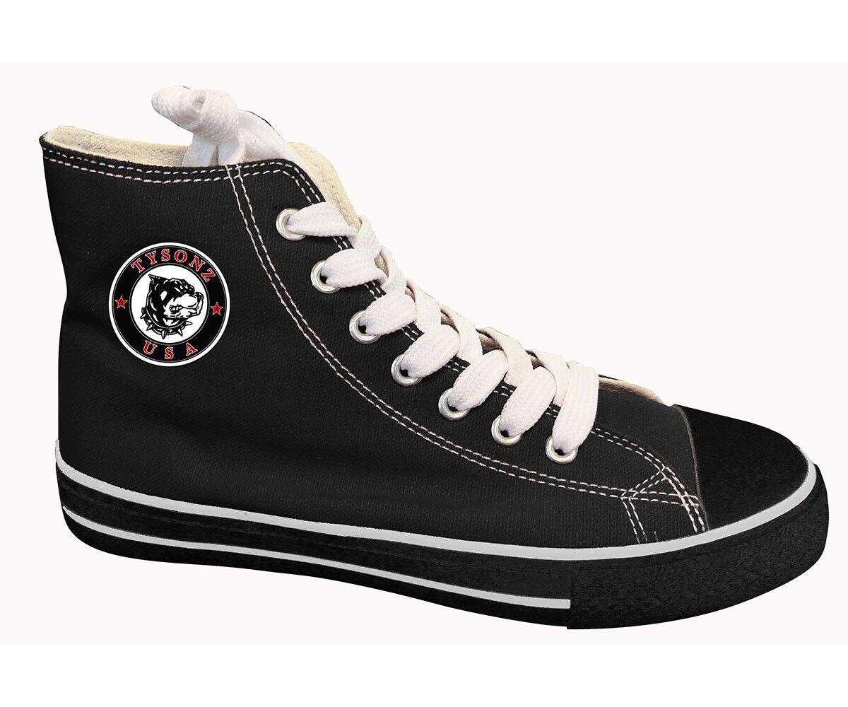 Sneakers hoch schwarz Größe 42 - Turnschuh Freizeitschuhe Schuhe  NEU