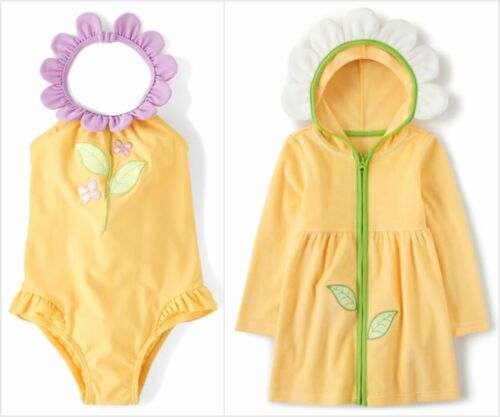 NWT Gymboree Pocketful Of Posies Girls Flower Swimsuit Cover Up