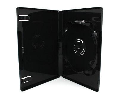 50 x 6 Fach AMARAY DVD Hüllen für 1 - 6 CD DVD Blu-Ray Hülle 14mm | Schwarz