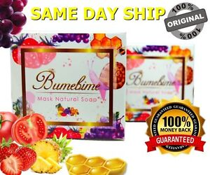 Thai Bumebime Mask Natural Soap 100g Whitening Skin FDA Approved Authentic